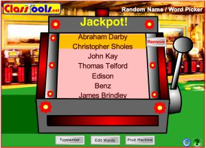random name generator fruit machine